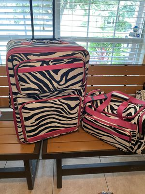 Zebra Print Travel Set for Sale in Houston, TX