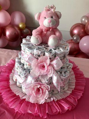 Baby Girl Diaper Cake for Sale in Deerfield Beach, FL