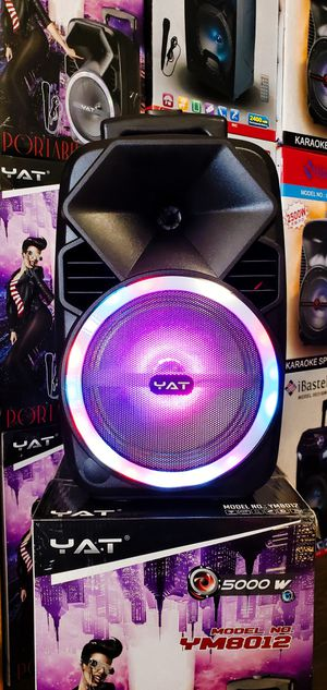 """Bosina Nueva Bluetooth Woofer 8"""" LED Lights Karaoke !!! Rechargeable 🔋 +++ Usb / Aux / Micro SD Card for Sale in Los Angeles, CA"""