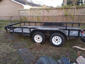 14ft x 6 1/2ft double axle utility trailer for Sale in Deer Park, TX
