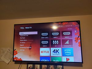 55inch TCK roku tv for Sale in Federal Way, WA