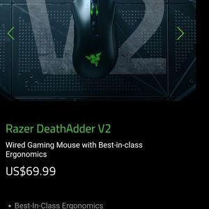 New Razer Deathadder V2 RGB Mouse 50.00 for Sale in Boulder City, NV