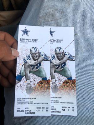 $100 obo 2 tickets Cowboys vs Texans 8/24/19 for Sale in Dallas, TX