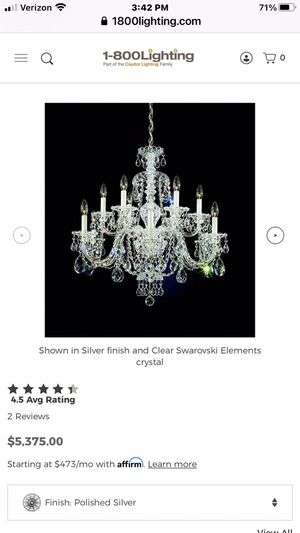 Chandelier and LED twinkle Christmas tree for Sale in Laguna Niguel, CA