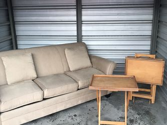 Tan Couch/loveseat With 4 TV Stands for Sale in Pickerington,  OH