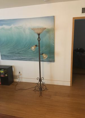 Lamp with beautiful metal work which can accent any room! for Sale in San Diego, CA