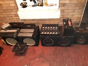 Car audio amps subs chechero n more for Sale in Philadelphia, PA