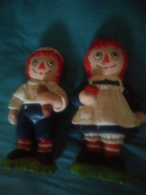 Raggedy Ann and Andy glass ceramic dolls for Sale in Fort Myers, FL