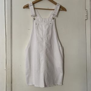 Forever 21 White Denim Overall Dress for Sale in Santa Ana, CA