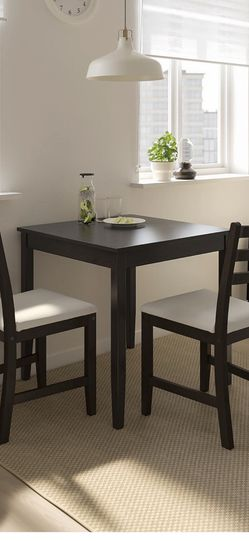 Black IKEA Table With 2 Chairs for Sale in Seattle,  WA