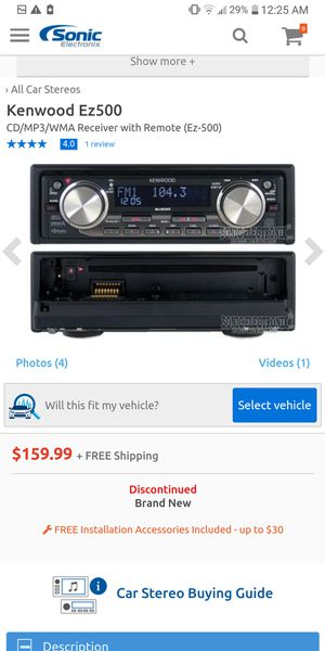 Kenwood CD player/car stereo deck system. Nice shape need sold ASAP. 60$ OBO for Sale in Vancouver, WA