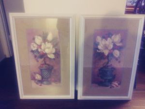 Magnolia Topiary l & ll by Artist Barbara Mock for Sale in Cedar Hill, TX