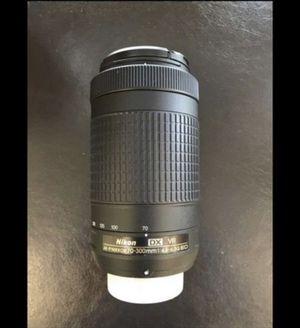 Nikon af-p dx 70-300mm f/4.5-6.3g camera lens dslr len cam gear vr digital photo photography photographer for Sale in Murrieta, CA