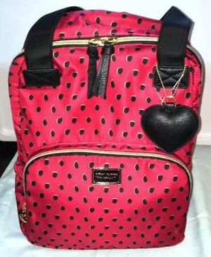 *NEW* BETSEY JOHNSON Backpack Tote Bag 2 in 1 Red & Black for Sale in Medford Lakes, NJ