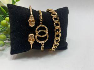 Punk Hyperbole Style Cuban Chain Cuff Alloy 3pcs/set Skull Bracelet for Women for Sale in Irvine, CA
