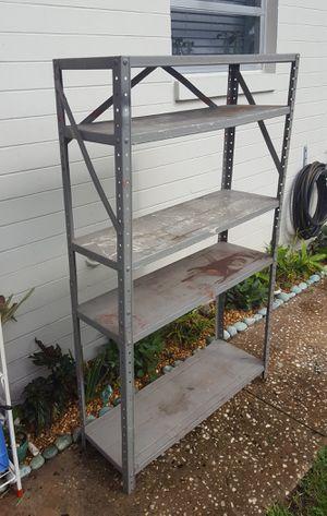 FREE Vintage Metal Shelving/Garage Storage/Bookcase for Sale in Orlando, FL