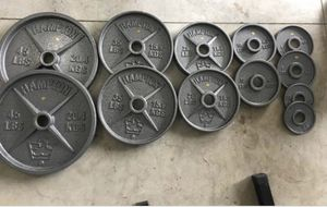 Olympic style plates weights for Sale in Oregon City, OR