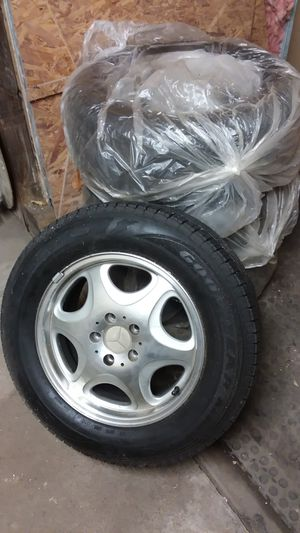 Mercedes rims n good year tires 235 /60/16 for Sale in South Norfolk, VA