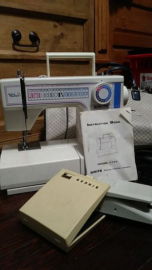 Jeans Machine Sewing Machine by WHITE with Singer attachments for Sale in Los Angeles, CA