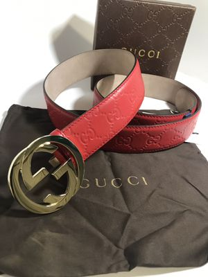 Gucci Red Guccisima GG Belt **XMAS SALE! for Sale in Queens, NY