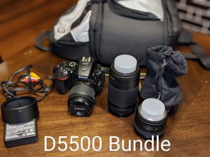 D5500+ 3 lenses ( very less used - need to go) for Sale in Austin, TX