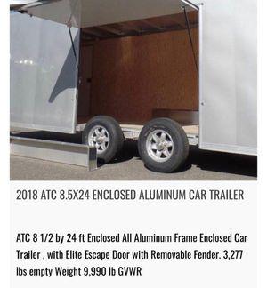 2018 ATC 8.5x24 Enclosed Aluminum Car Trailer for Sale in Virginia Beach, VA