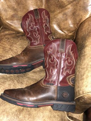 MEN'S *JUSTIN* BROWN LEATHER PULL-ON SQUARE TOE WORK BOOTS : 10 EE for Sale in Mendon, MA
