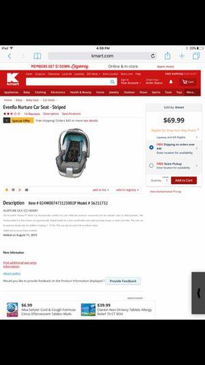 Infant car seat for Sale in Saucier, MS