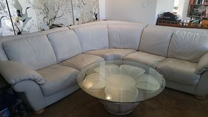 White leather couch sectional Natuzzi for Sale in Temple City, CA