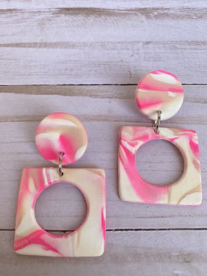 Marble Handmade Polymer Clay Earrings for Sale in Azusa, CA