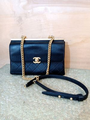 Chanel Classic Flap Coco Luxe Bag in Black for Sale in Everett, WA