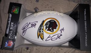 Redskins Fotball Signed by Santana Moss and Gary Clark for Sale in Clinton, MD