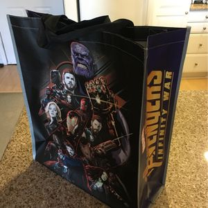 Avengers Infinity War Bag, Large, Re-usable, with straps & handles for Sale in Santa Ana, CA