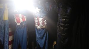 5 dress up costumes Bob the Builder Captain America Batman and Superman SuperAmerica all five let go for $50bucks for Sale in Columbus, OH