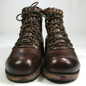 Women's Ankle Leather Biker Boots Size 10 M Combat Shoes Vintage Shoe Company for Sale in Willowbrook, IL