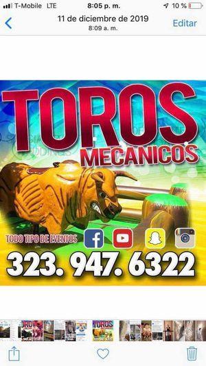 Renta de toro mecánico for Sale in Los Angeles, CA