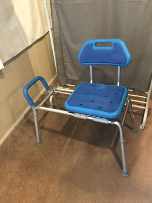 Premium Sliding Bath Transfer Bench with Swivel Seat-Padded (Blue) for Sale in San Diego, CA