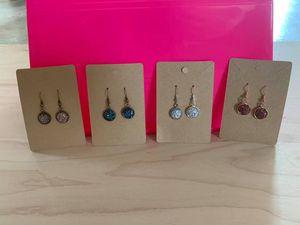 12mm Druzy Dangle Earrings for Sale in Mount Olive, NC
