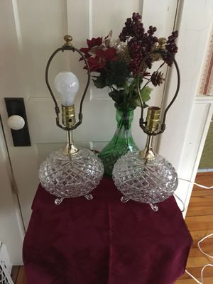 Vintage Crystal Lamps EXCELLENT CONDITION. ADORABLE! for Sale in North Ridgeville, OH