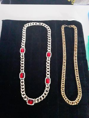 30 inch very heavy gold plated stainless steel 16mm wide miami cuban link.very small tarnish on chain but decent piece 150 obo. Very heavy for Sale in Mechanicsburg, PA