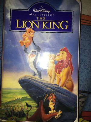 1995 Disney the lion king masterpiece VHS #2977 in original box for Sale in Mesquite, TX