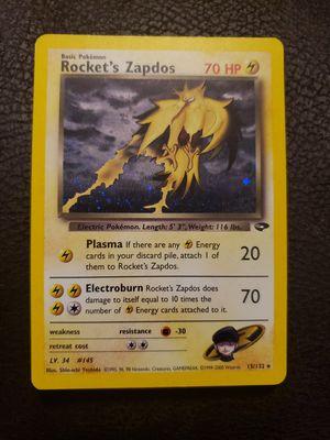 Pokemon: Rocket's Zapados holo (RARE) 1999 card for Sale in Phoenix, AZ