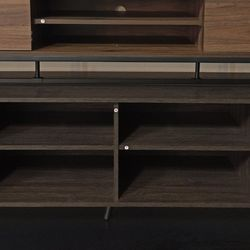 NEW, TV Stand (2x2 Tier Shelves & 2 Cabinets), DARK ESPRESSO,SKU#TC2011. for Sale in Huntington Beach,  CA