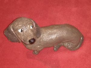 Handmade Concrete Dachshund Dog Statue for Sale for sale  Zephyrhills, FL