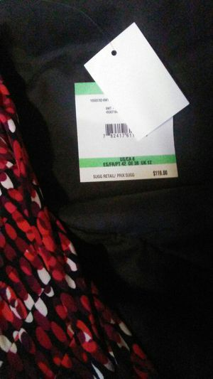 Titan red combo anne klien dress size 8 for Sale in US