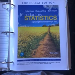 Introductory Statistics 3rd Edition (Loose-leaf) for Sale in Fremont, CA