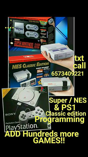 Super Nintendo NES and ps1 classic games for Sale in Las Vegas, NV