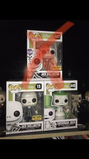 Nightmare before Christmas Funko Pops for Sale in Fontana, CA