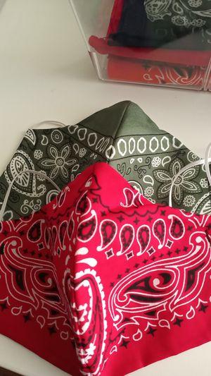 2 bandana 100% cotton mask, white inner liner for Sale in Chino Hills, CA