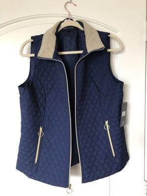 Women's black rivet lightweight navy blue vest size large for Sale in Houston, TX